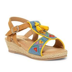 HANNA ANDERSSON Sunshine Anka Embroidered Sandal